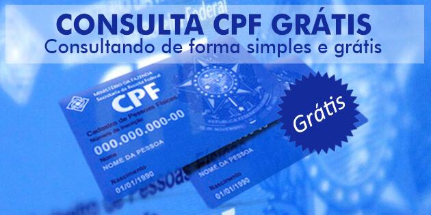 Consulta CPF Grátis e simples